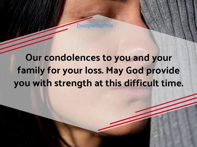 condolences message