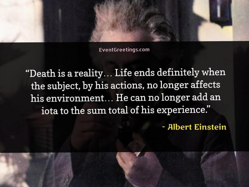 Albert Einstein's Quotes About Death