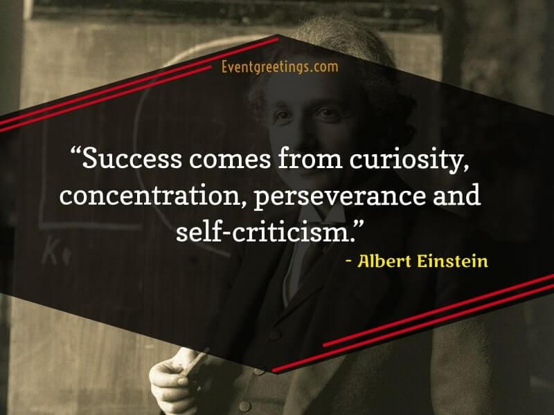 Albert Einstein's Quotes About Success