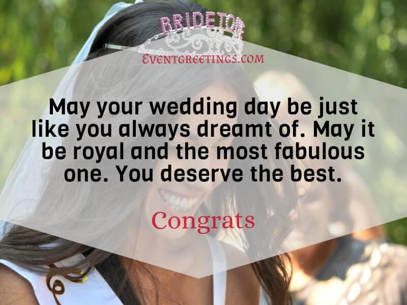 best bridal shower wishes