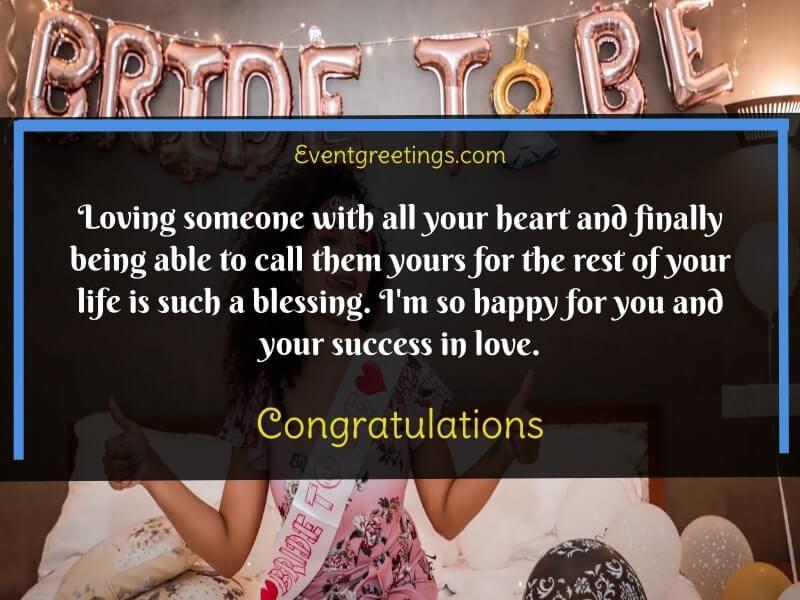 bridal shower message