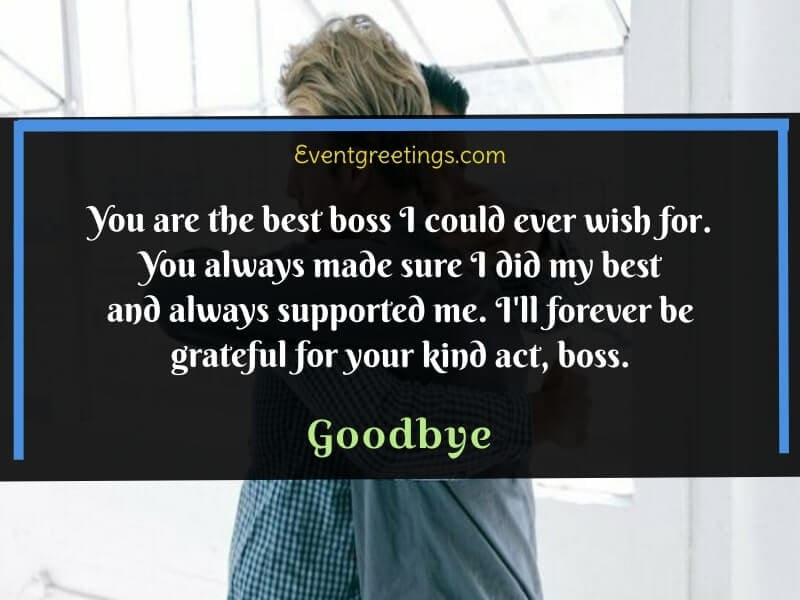 Farewell Message to Boss