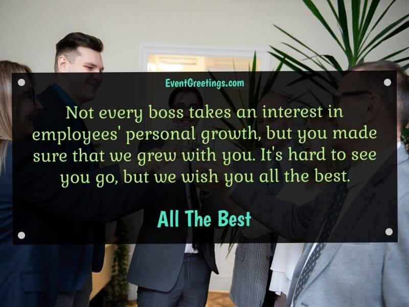 Goodbye Message to Boss