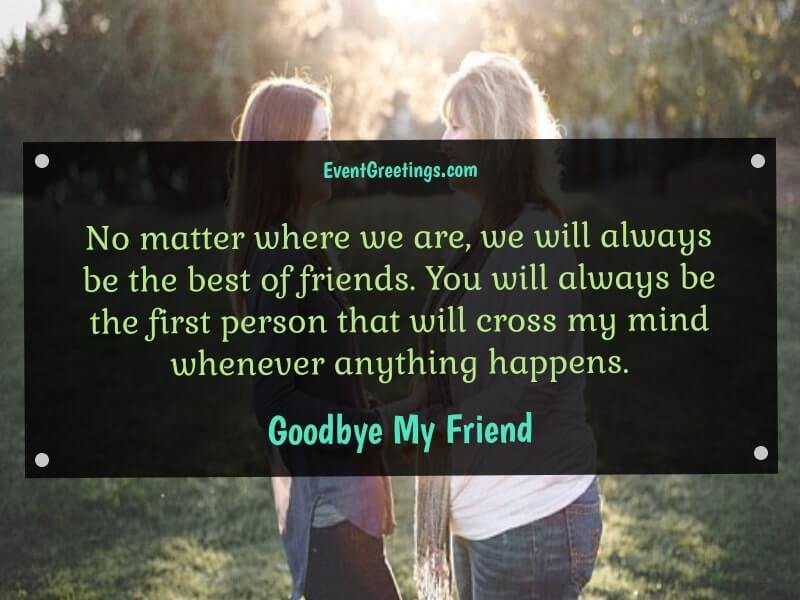 Goodbye Messages for Friends