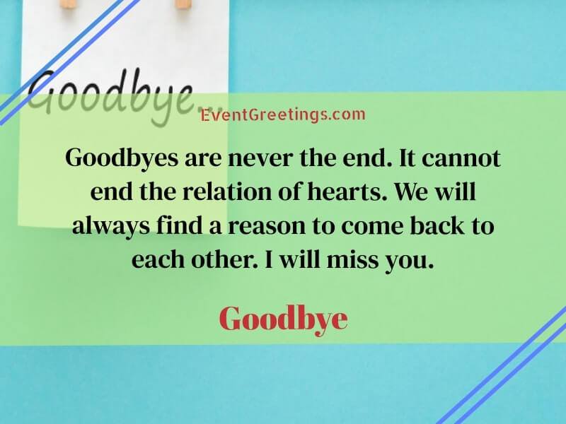 Saying Goodbye to a Friend