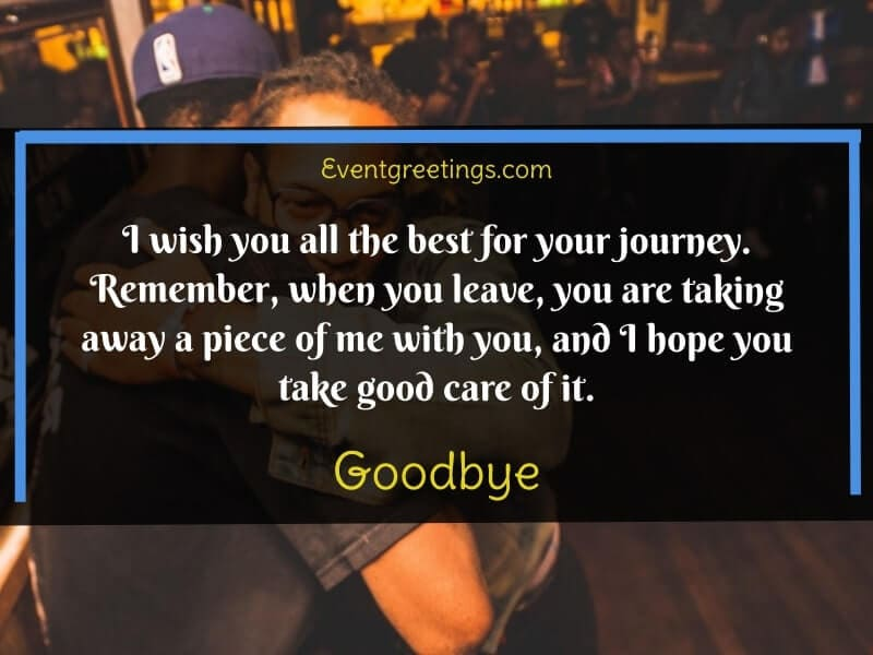 Farewell Message to a Friend