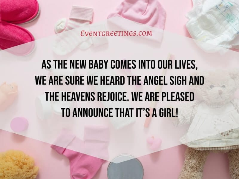 It's A Girl Announcement